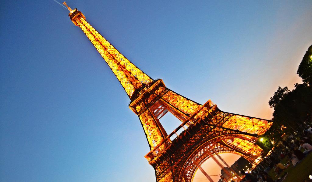 природа страны архитектура Марсово поле Париж Франция  № 824072 загрузить