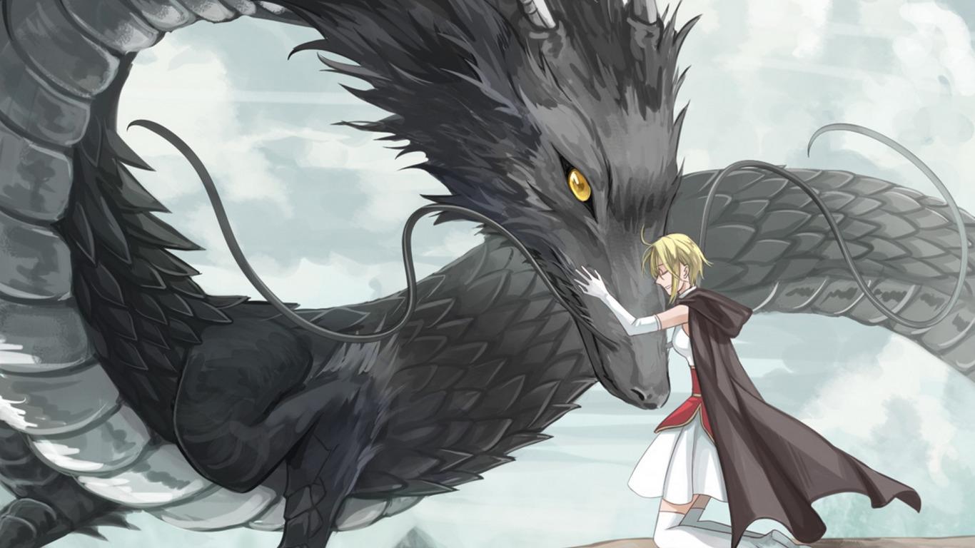 Картинки дракона в аниме