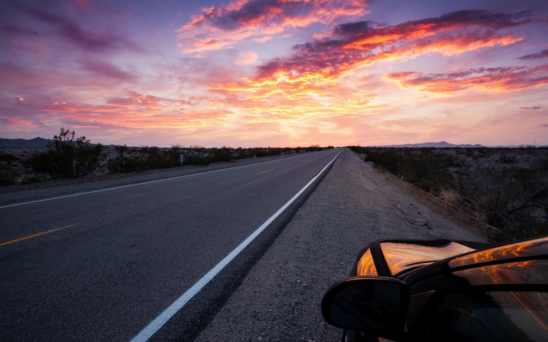Дорога к закату  № 1568282 бесплатно