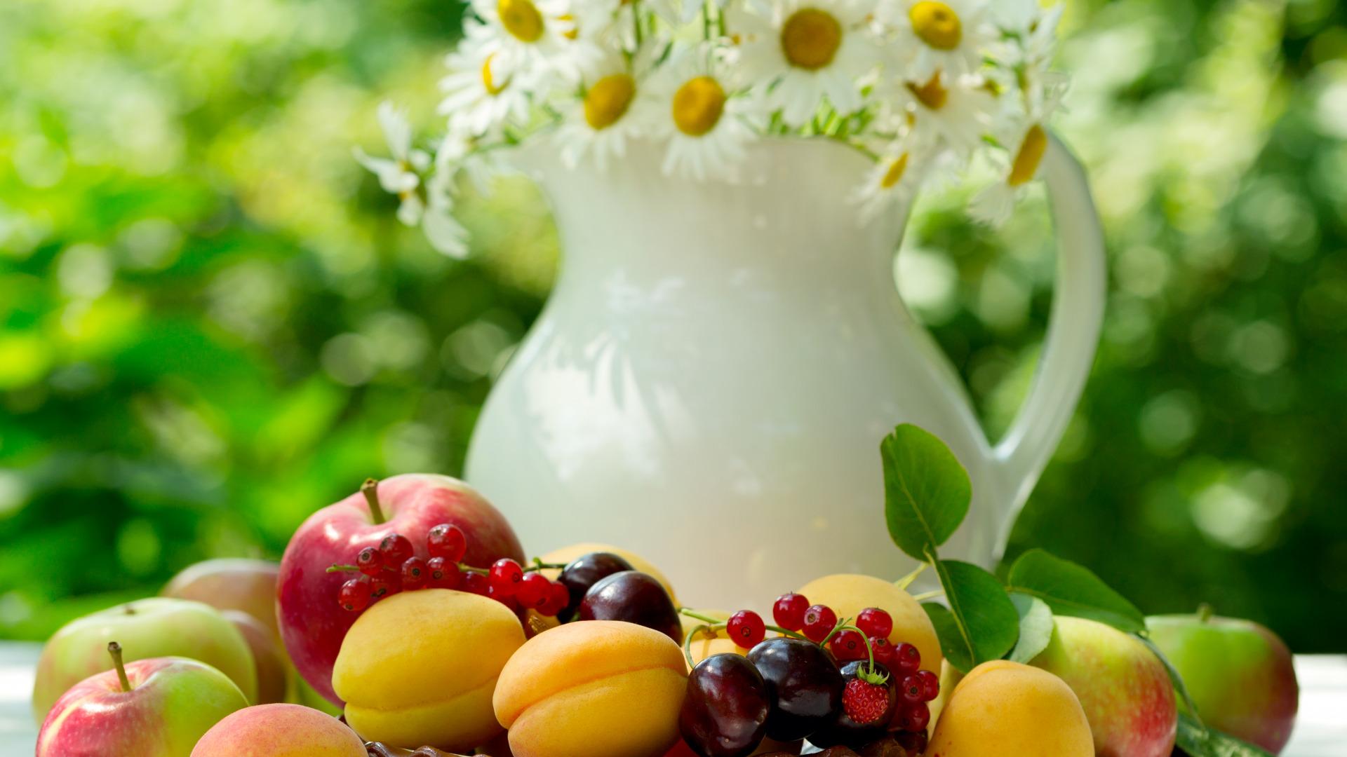 Обои лето фрукты для рабочего стола