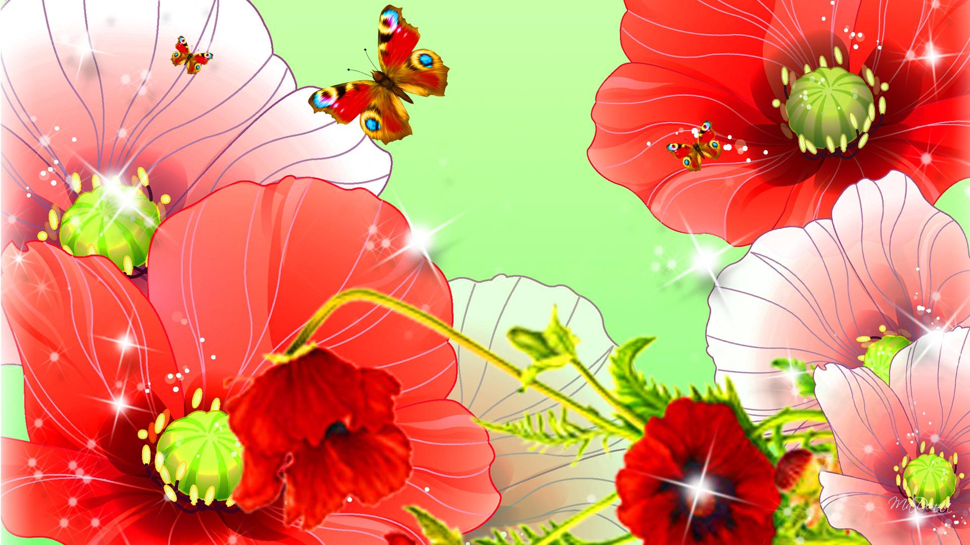 Обои цветы, Коллаж, рисунок, вектор. Разное foto 13