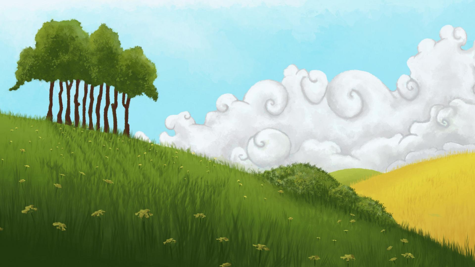 Рисовать поле траву