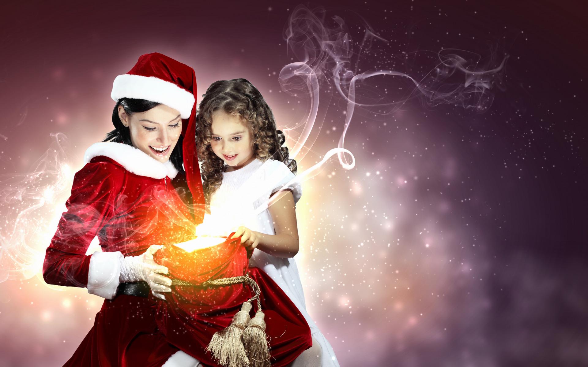 Волшебство в новый год для девушки