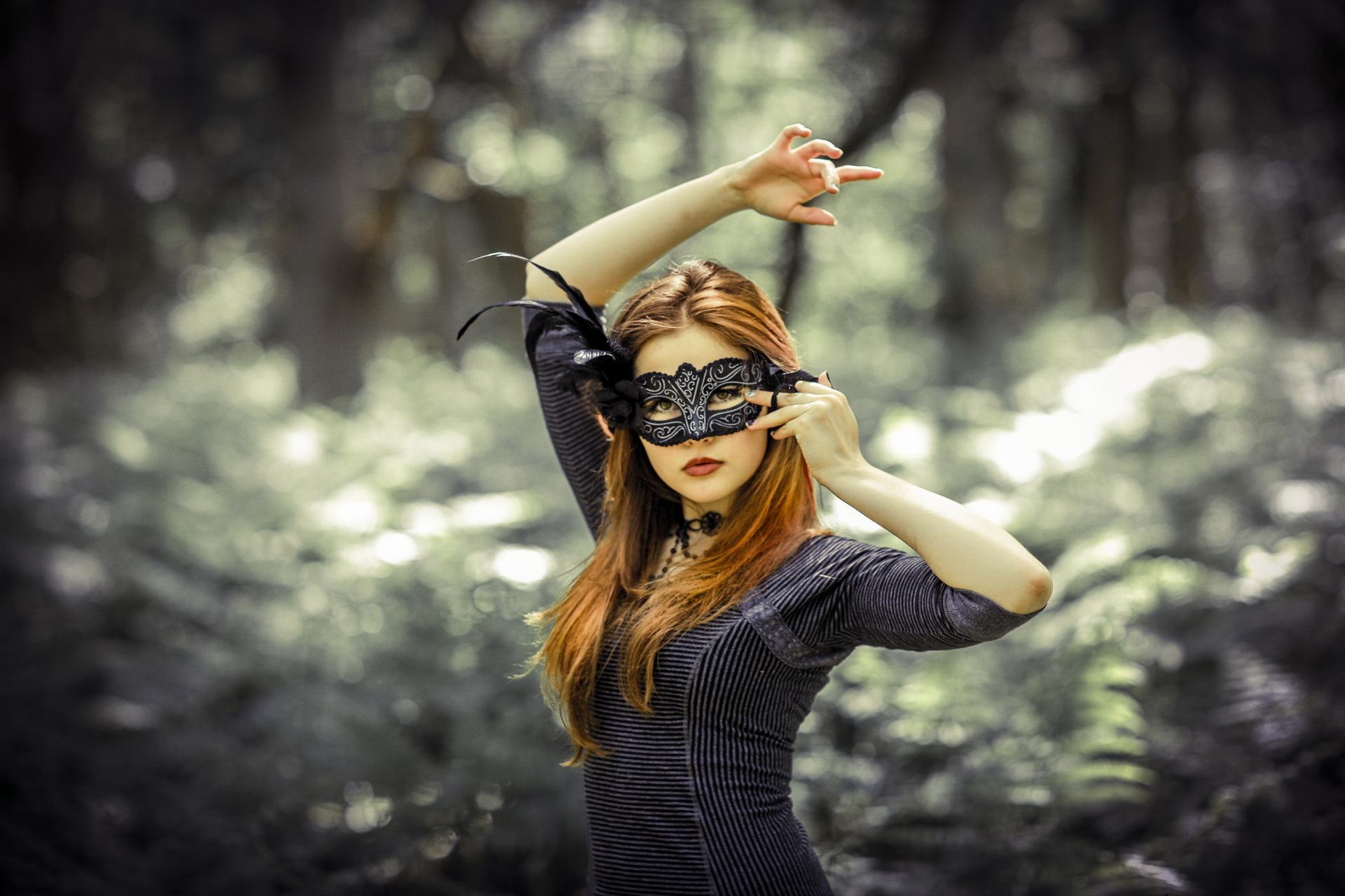 Фото девушек в маске рыжие