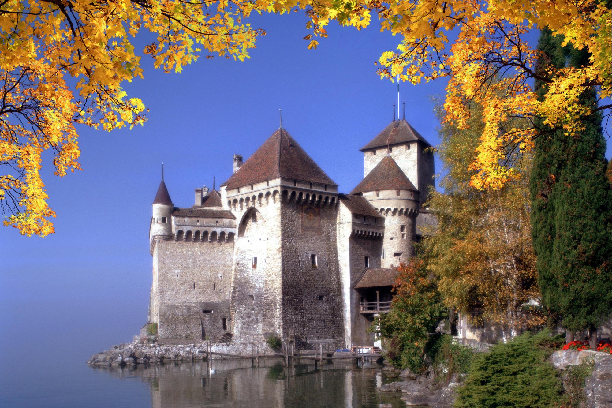 Замок швейцария вечер  № 2569370  скачать