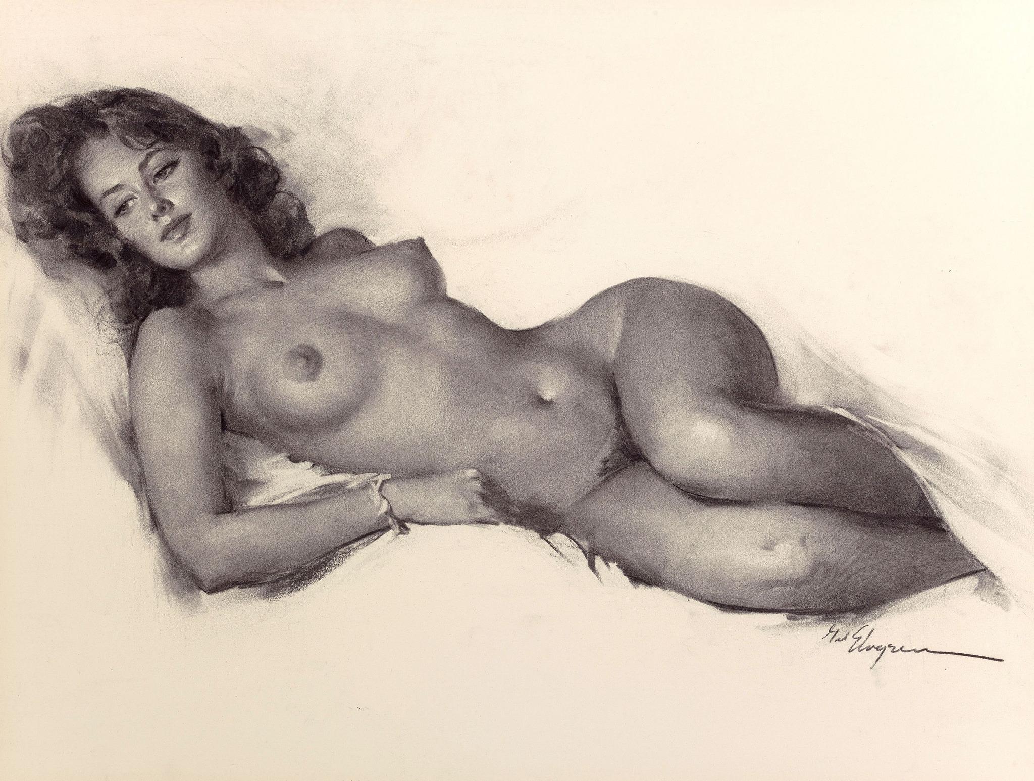 Рисованные Голые Тетки