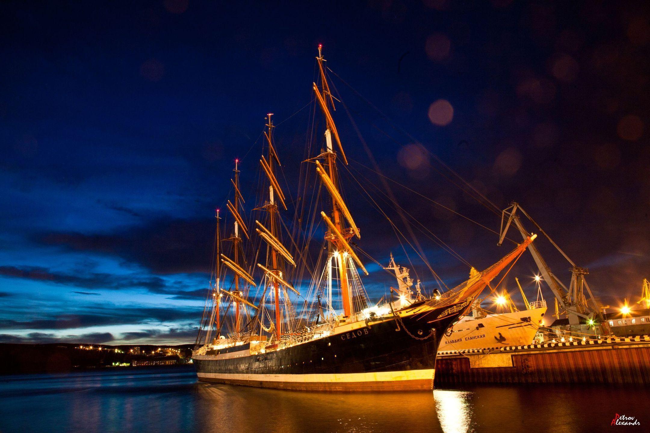 Санкт-Петербург корабль закат  № 3945028 бесплатно