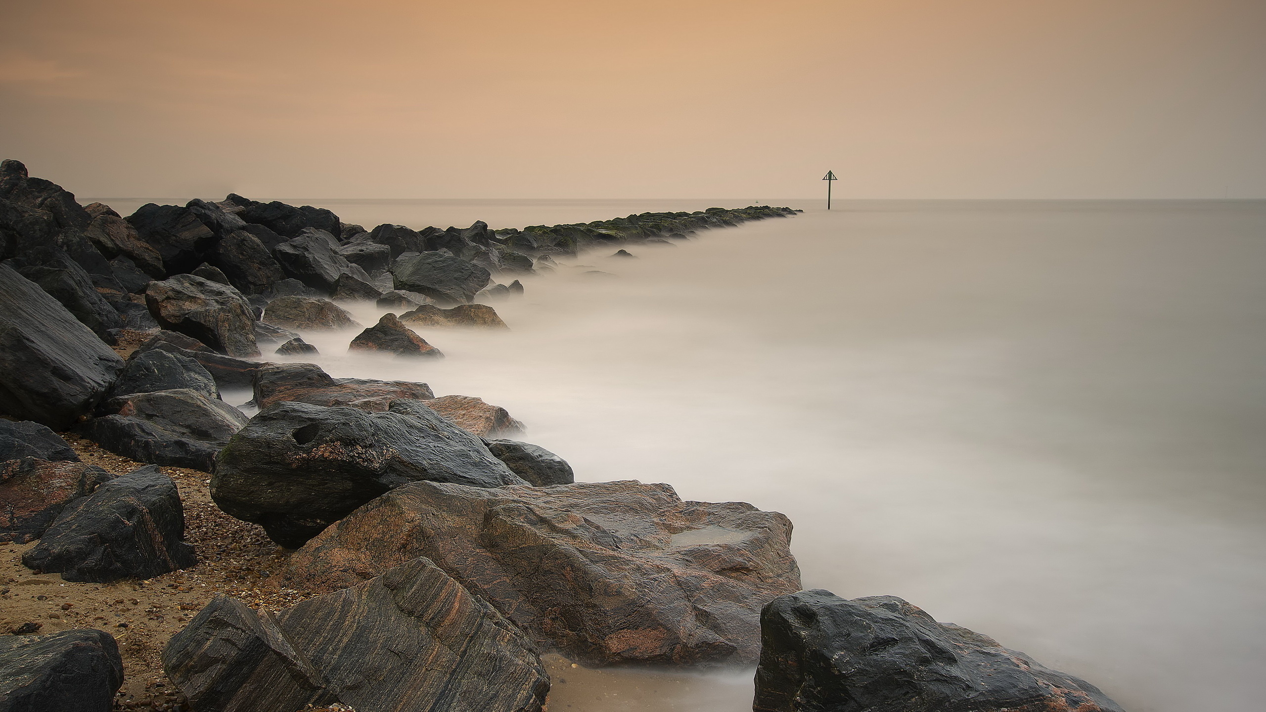 Морской пейзаж море берег камни