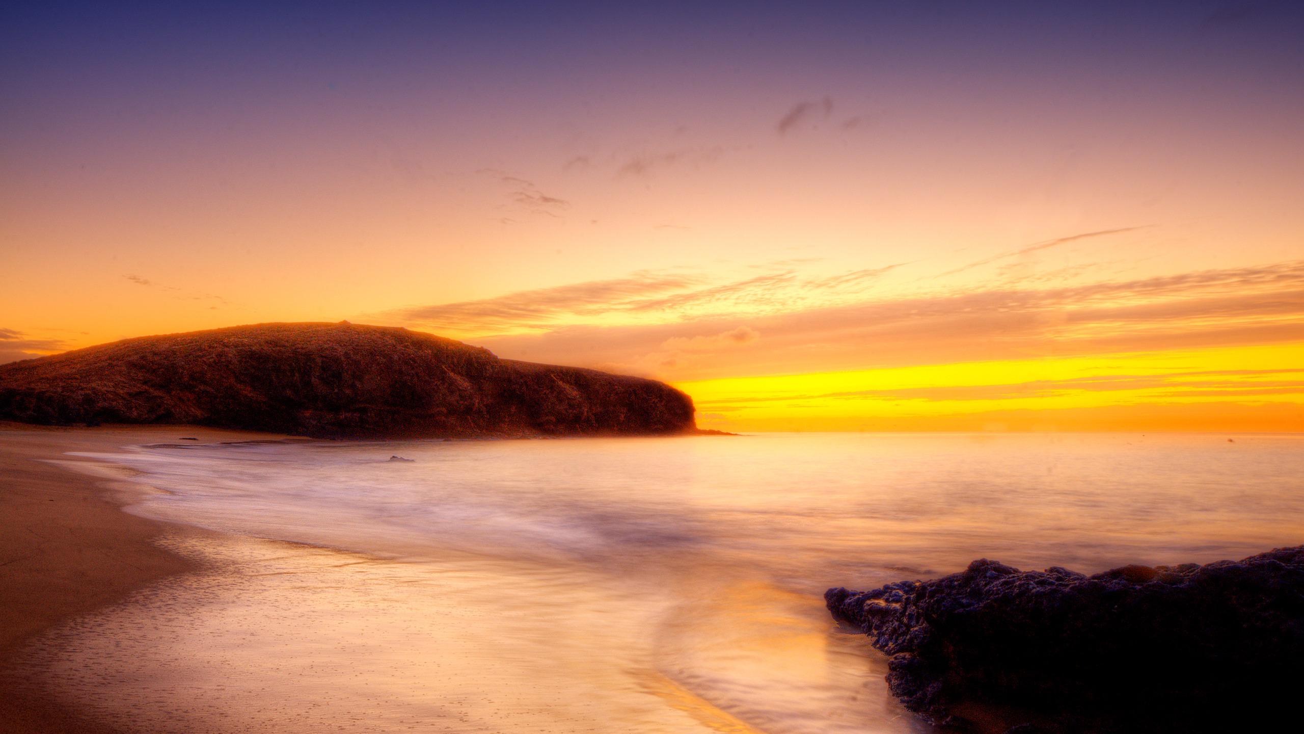 золотистый закат над морем  № 184538 загрузить