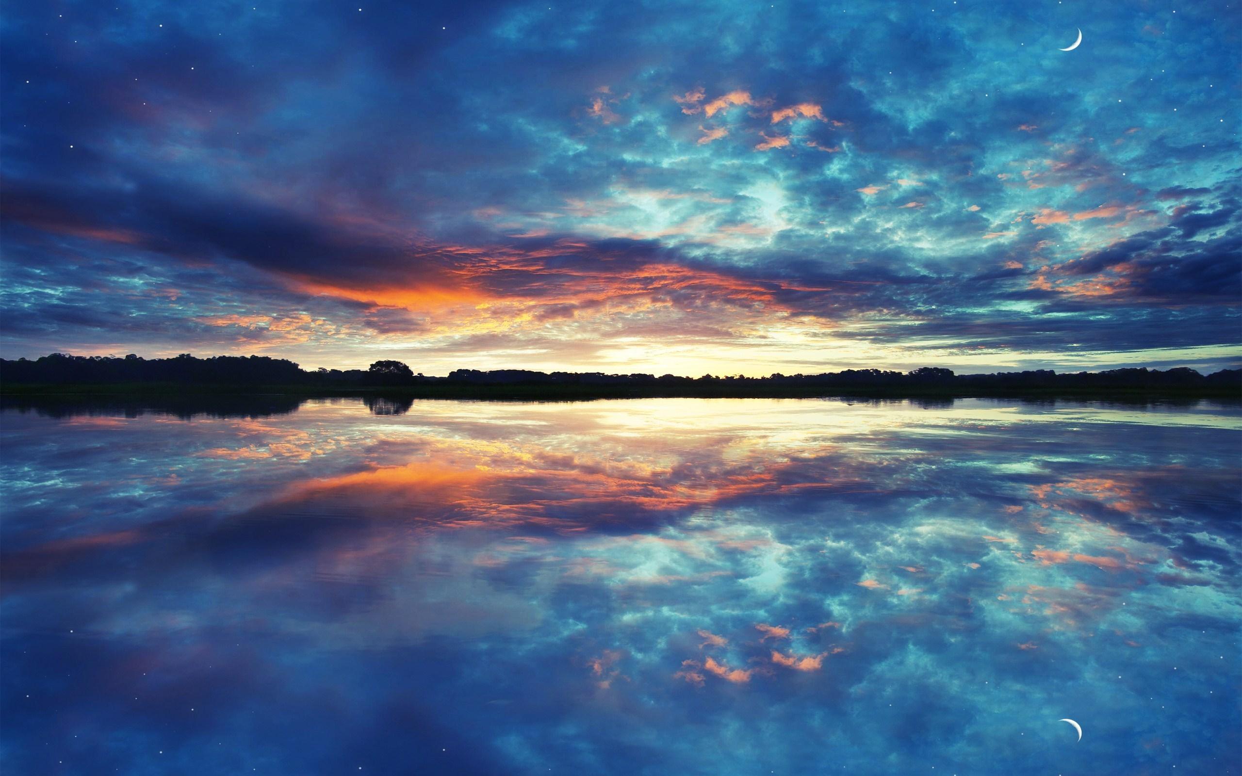 природа облака солнце река  № 2602958 загрузить