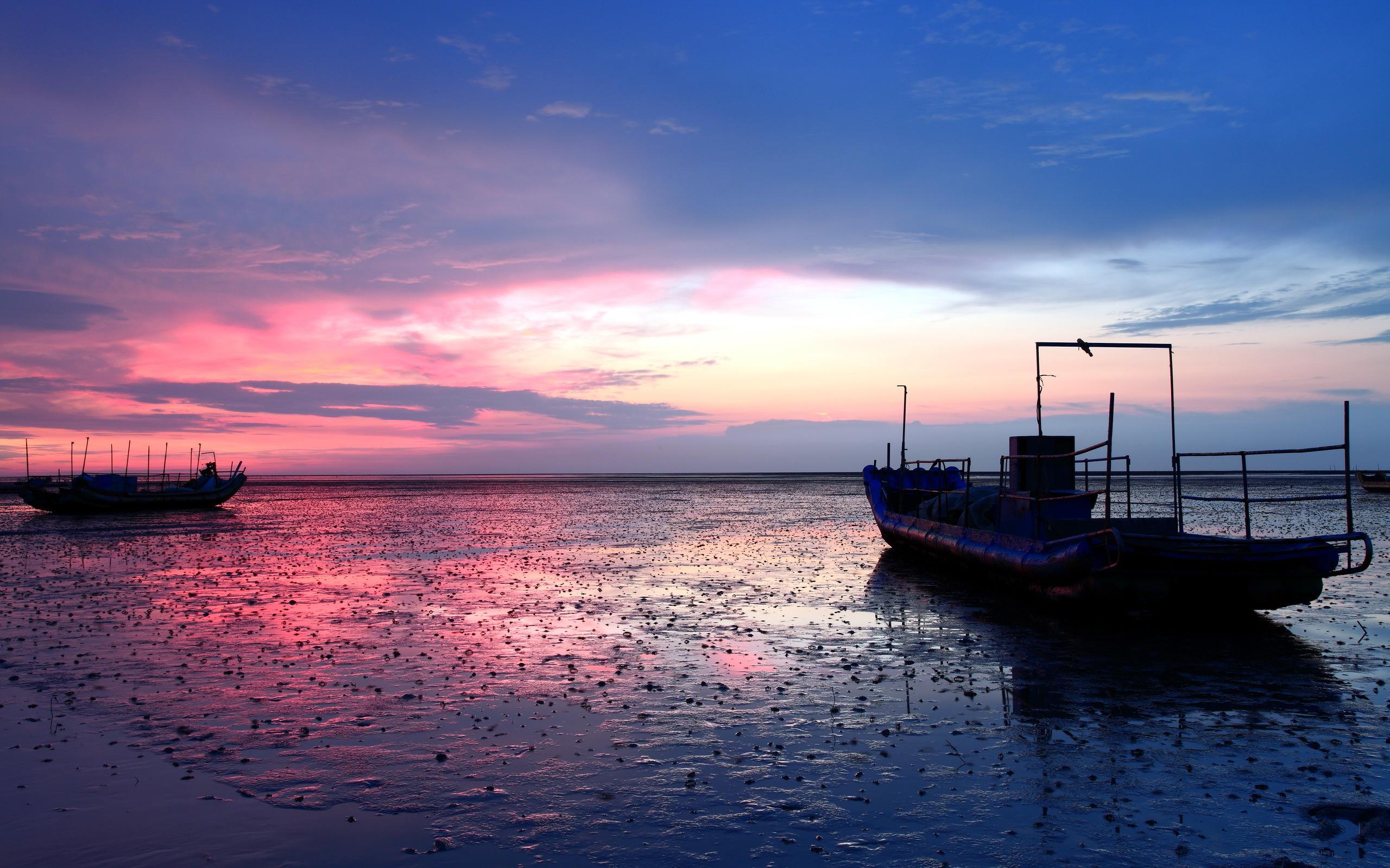 лодки ночь  № 3506463  скачать