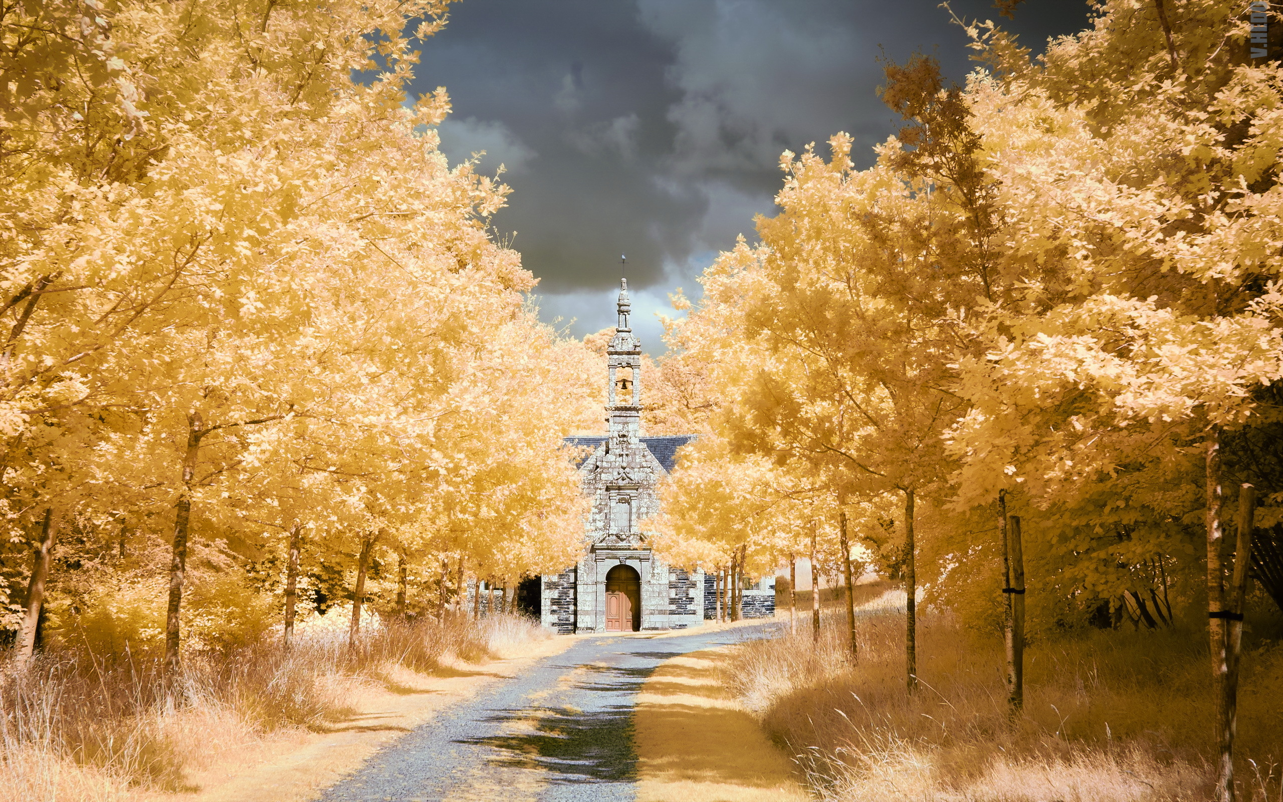 осень церковь обои на рабочий стол 15853