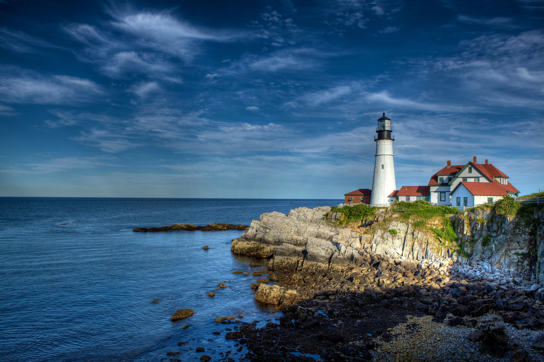 природа маяк море скалы  № 2238483 бесплатно