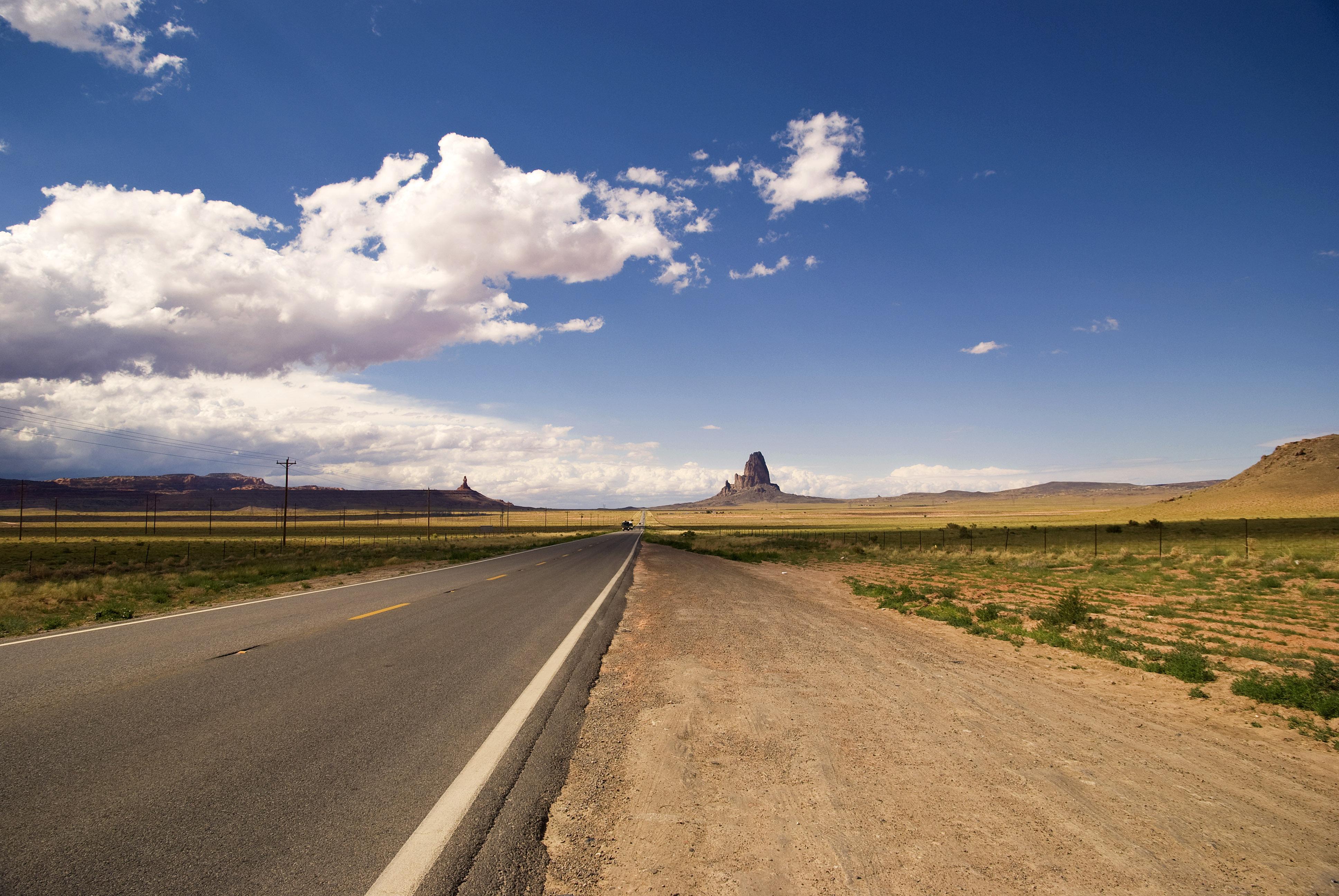 природа небо облака дорога горизонт  № 772049  скачать