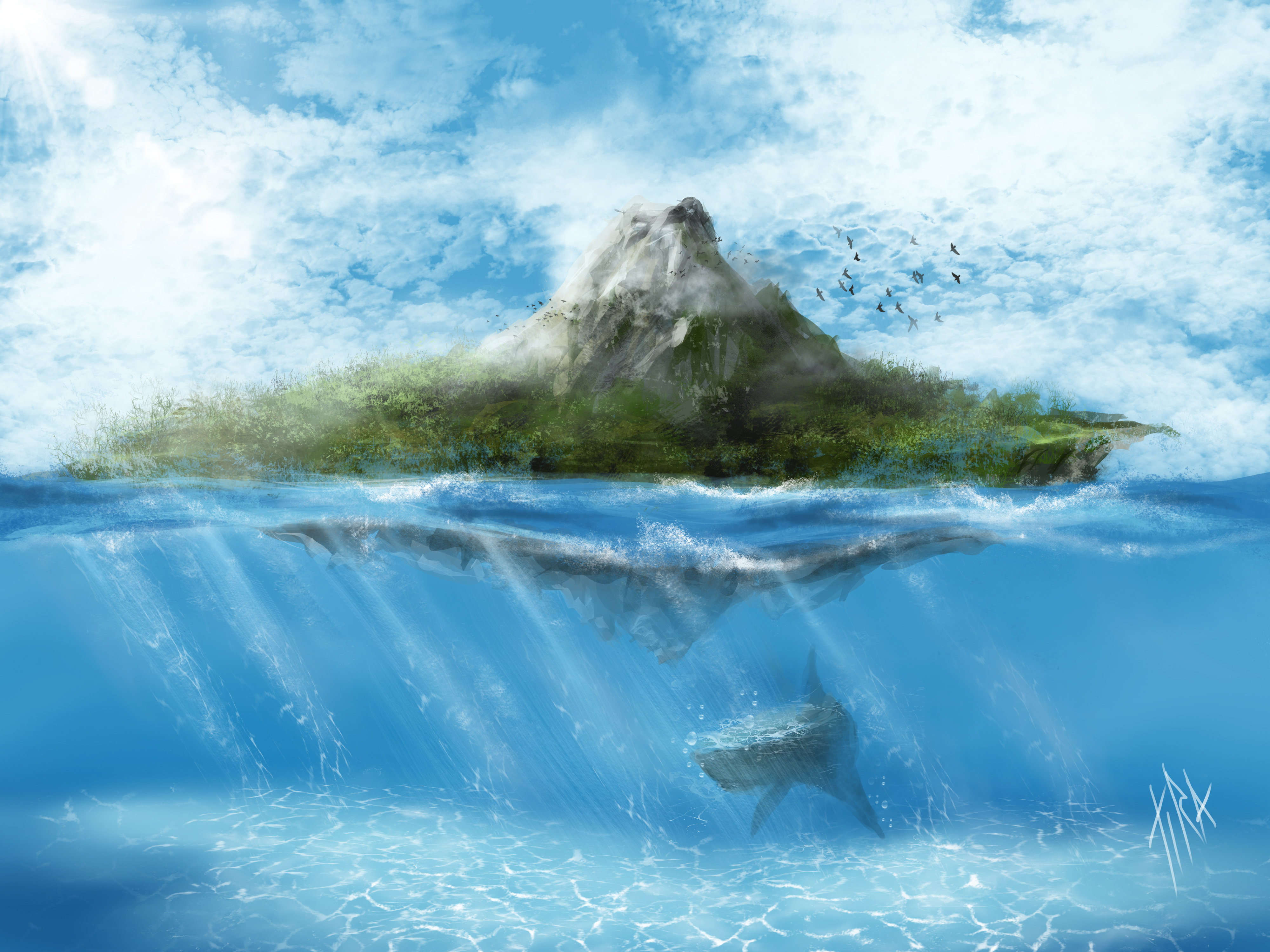 фэнтези картинки природа море молодом организме