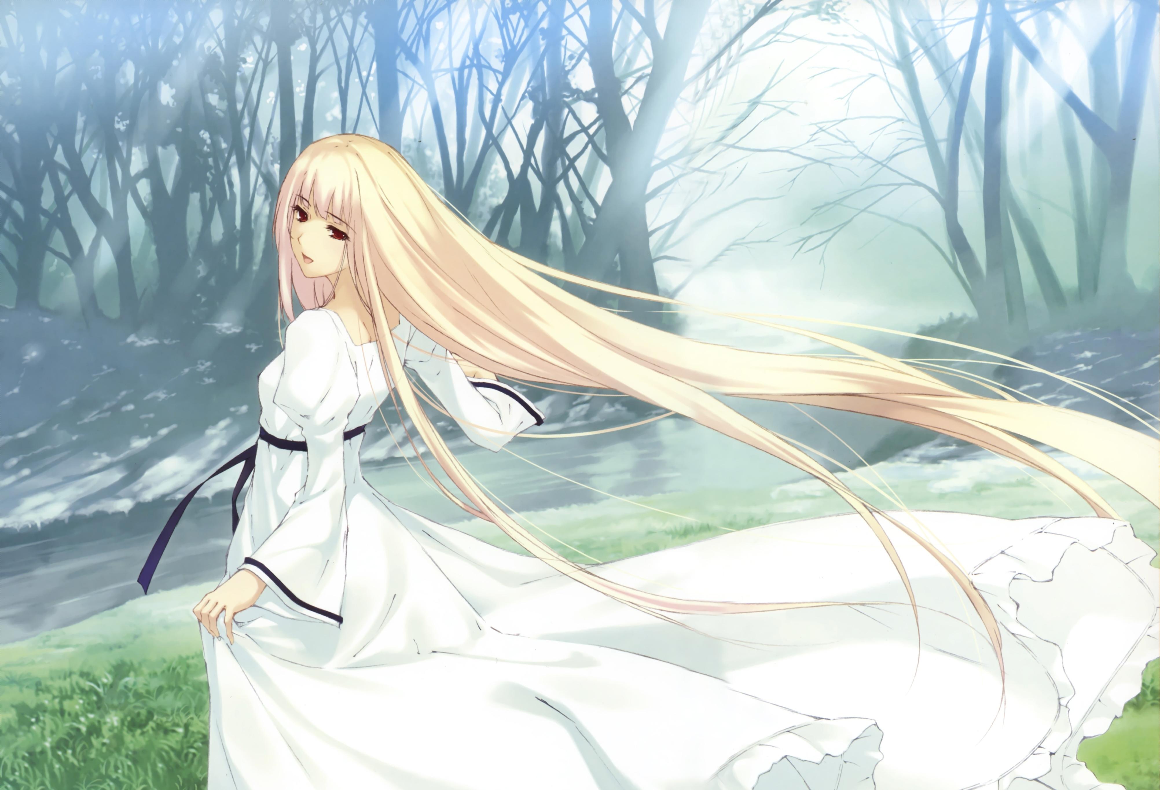 картинки аниме девушки в платьях