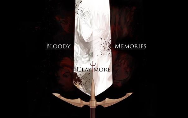 Фото обои Меч, Клэр, Claymore, Клеймор, Sword, Clare