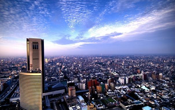 Фото обои небо, небоскреб, дома, Город