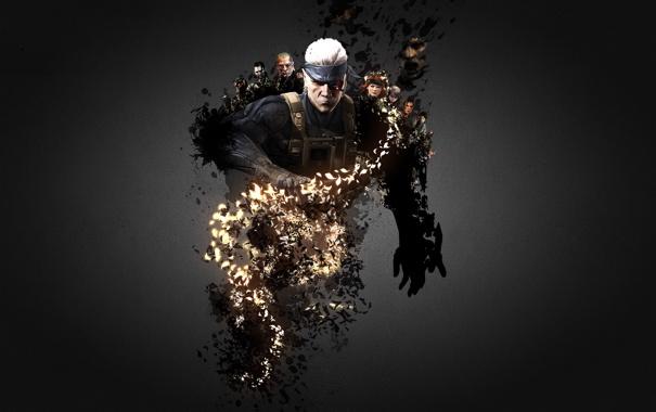 Фото обои snake, metal gear solid, персонажи