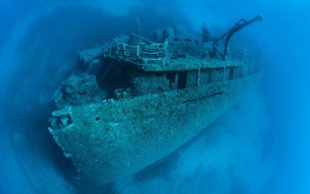 Фото обои дно, вода, корабль