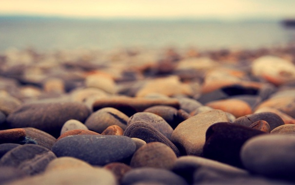 Фото обои Макро, Море, Камни, Свет