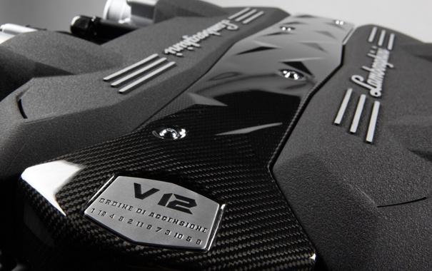 Фото обои стиль, красота, Lamborghini, мощь, движок, v12