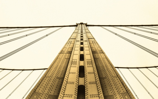 Фото обои мост, город, опора