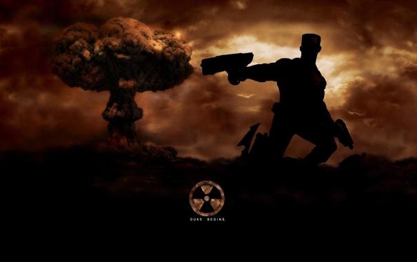 Фото обои взрыв, надпись, атомный, Forever, Duke, Nuken, duke begins