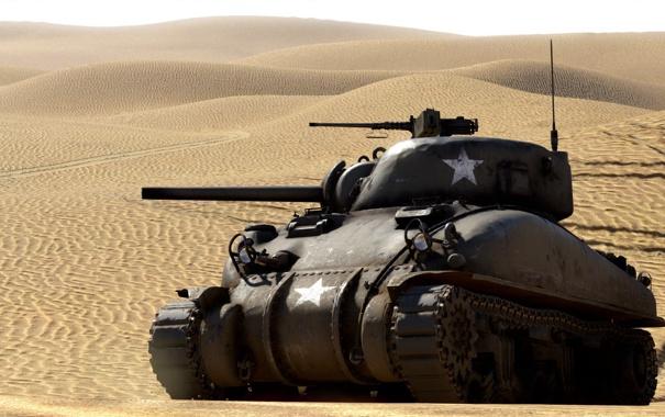 Фото обои пустыня, танк, средний, War Thunder, «Шерман», M4 Шерман