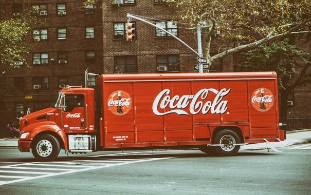 Фото обои Manhattan, NYC, New York City, Coca cola, Coke Truck