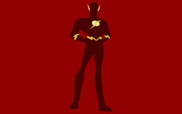 Фото обои минимализм, Вспышка, Minimal, DC Comics, Justice League, Флэш, Лига Справедливости
