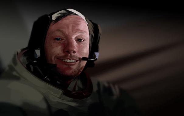 Фото обои человек, арт, лётчик, астронавт, первый, НАСА, корабля