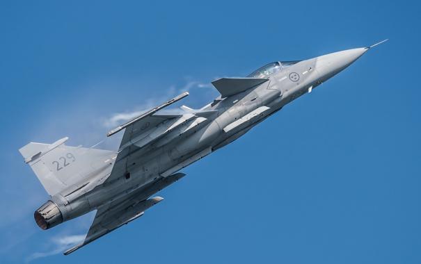 Фото обои полет, истребитель, бомбардировщик, многоцелевой, Gripen, JAS 39