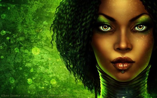 Фото обои девушка, афро, turamali