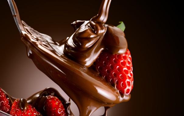 Фото обои сладость, клубника, ложка, десерт, sweet, strawberry, dessert