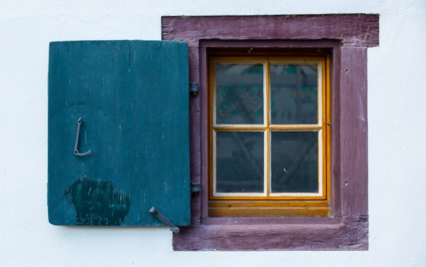 Фото обои стена, окно, дом, фон