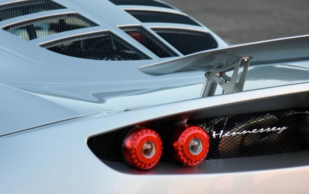 Фото обои надпись, суперкар, задняя часть, антикрыло, Hennessey, Venom GT, хеннесси