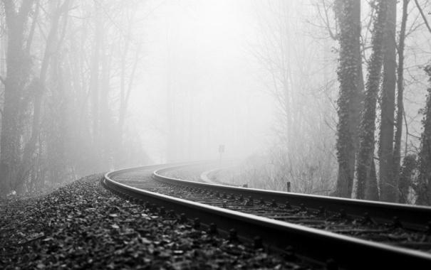 Картинки по запросу туман железная дорога