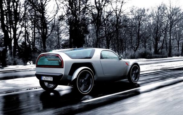 Фото обои концепт кар, дождь, auto