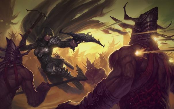 Фото обои Diablo, охотник на демонов, Demon Hunter