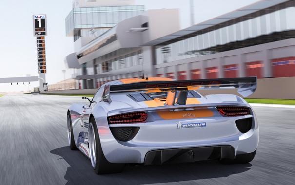 Фото обои машина, Concept, Porsche, концепт, спойлер, 918, RSR