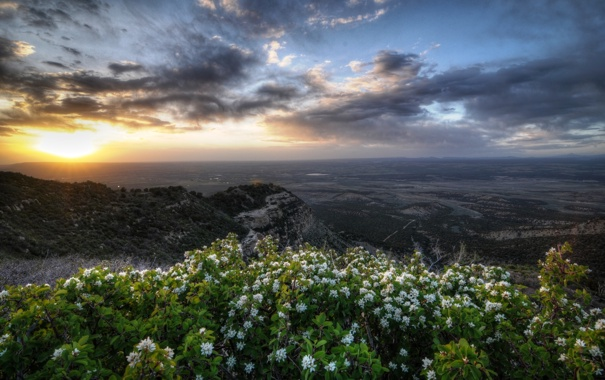 Фото обои Geologic Overlook, HDR, Mesa Verde National Park