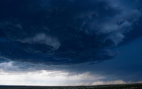 Фото обои поле, небо, трава, тучи, шторм, стихия