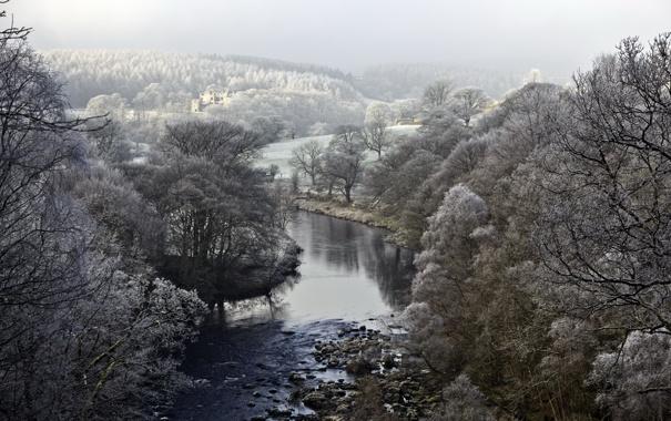 Фото обои пейзаж, природа, река