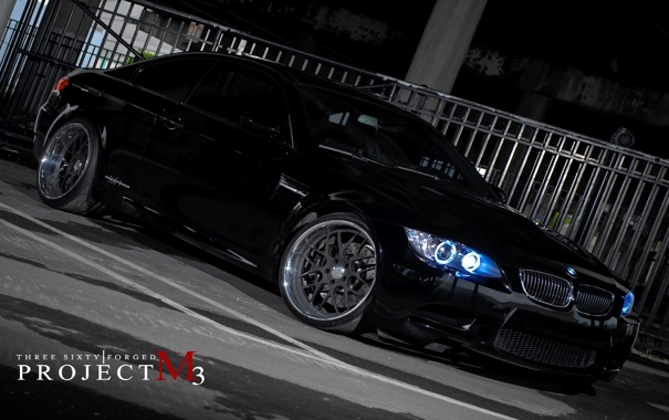 Фото обои бмв, BMW, чёрная, black, 360 three sixty forged, Project