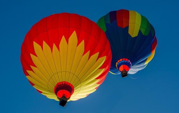 Фото обои небо, полет, воздушный шар, спорт