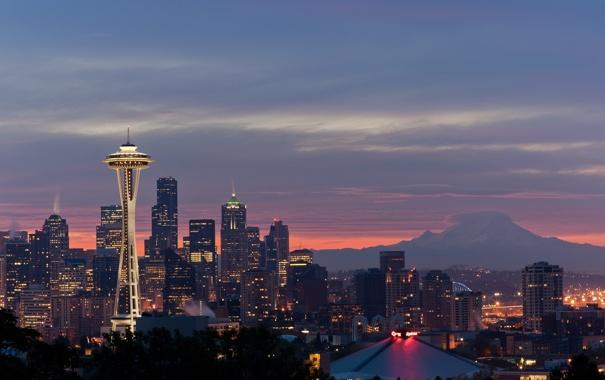 Фото обои Seattle, город, city, USA, Washington