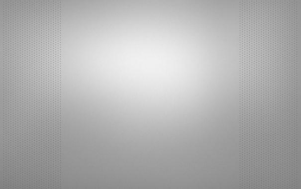 Фото обои серый, фон, светлый, точки, перфорация