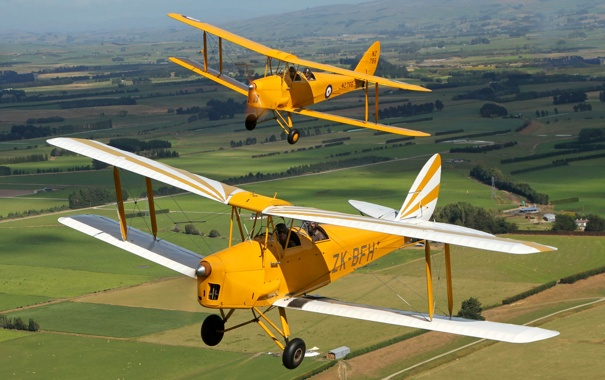 Фото обои полет, самолет, ландшафт, пара