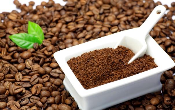 Фото обои кофе, зерна, много
